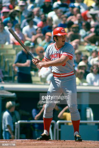 Johnny Bench of the Cincinnati Reds bats during an Major League Baseball game circa 1975 Bench played for the Reds from 196783