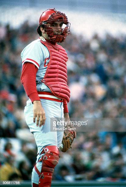 Johnny Bench of the Cincinnati Reds looks on during an Major League Baseball game circa 1975 Bench played for the Reds from 196783