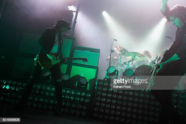 Johnny Bond and Van McCann of Catfish and the Bottlemen perform at the Olympia Theatre on November 20 2016 in Dublin Ireland