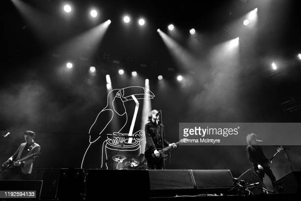 Johnny Bond, Bob Hall, Van McCann, and Benji Blakeway of Catfish and the Bottlemen perform onstage during KROQ Absolut Almost Acoustic Christmas 2019...