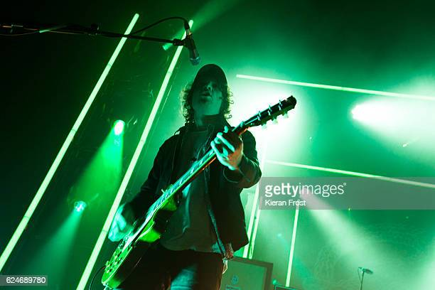 Johnny Bond of Catfish and the Bottlemen perform at the Olympia Theatre on November 20 2016 in Dublin Ireland