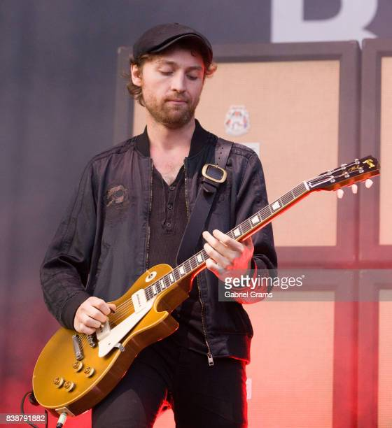 Johnny Bond of Catfish and the Bottlemen performs during the 2017 'Radio Revolution' Tour at Wrigley Field on August 24 2017 in Chicago Illinois