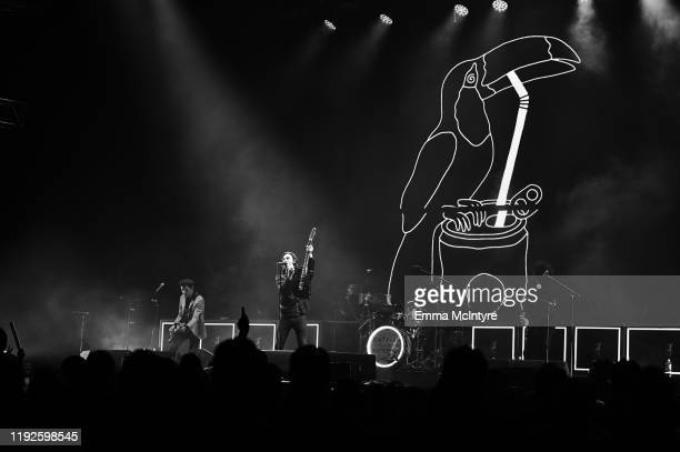 Johnny Bond, Van McCann, and Benji Blakeway of Catfish and the Bottlemen performs onstage during KROQ Absolut Almost Acoustic Christmas 2019 at Honda...