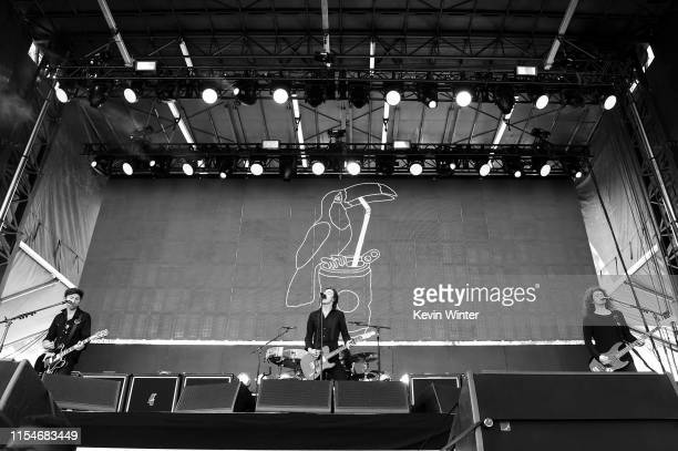 Johnny Bond, Van McCann and Benji Blakeway of Catfish And The Bottlemen perform onstage at KROQ Weenie Roast & Luau at Doheny State Beach on June 08,...