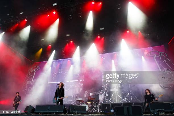 "Johnny Bond, Van McCann, Robert ""Bob"" Hall and Benji Blakeway of Catfish and the Bottlemen performs at Citadel Festival at Gunnersbury Park on July..."