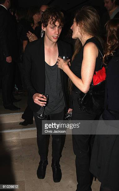 Johnny Borrell and guest at the Afterparty for Burberry Prorsum Spring/Summer 2010 Show at Horseferry House during London Fashion Week on September...
