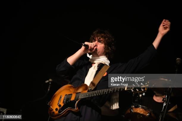 Johnny Borrell of Razorlight performs at Olympia Theatre on February 19 2019 in Dublin Ireland