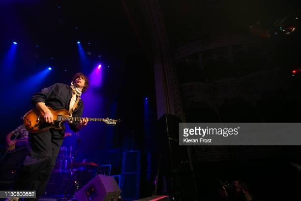 Johnny Borrell of Razorlight performs at Olympia Theatre on February 19 2019 in Dublin Ireland