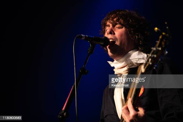 Johnny Borrell of Razorlight performs at Olympia Theatre on February 19, 2019 in Dublin, Ireland.