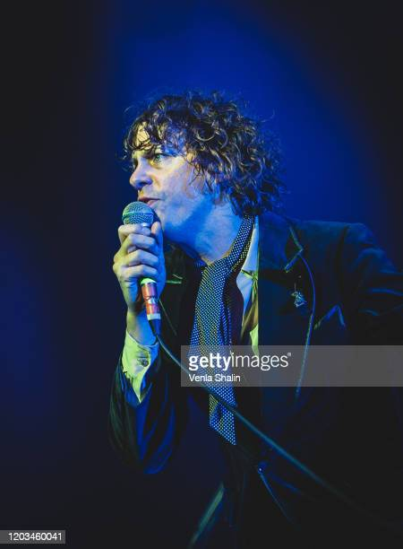 Johnny Borrell of Razorlight performs at The O2 Arena on February 1 2020 in London England