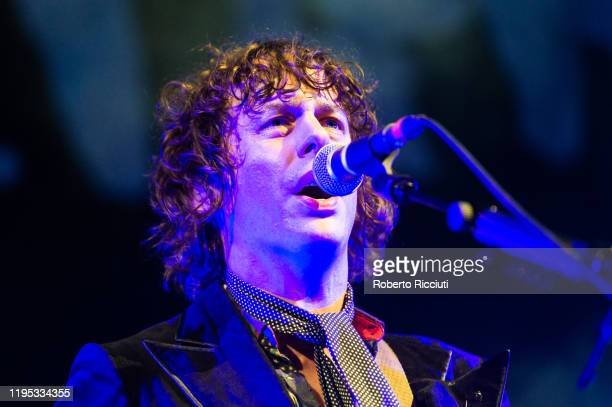 Johnny Borrell of Razorlight performs on stage at Usher Hall on January 22 2020 in Edinburgh Scotland