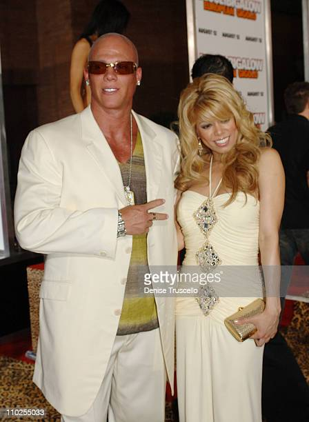 Johnny Brenden and Diva during Deuce Bigalow European Gigolo Las Vegas Premiere Red Carpet at The Palms Hotel and Casino Resort in Las Vegas Nevada...