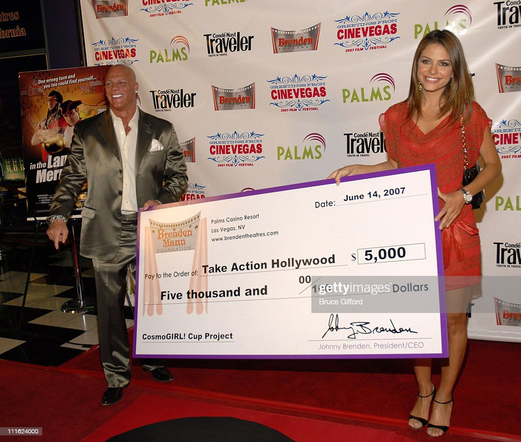 "Maria Menounos Honored With Brenden Celebrity Star and Screening of ""In the Land of Merry Misfits"" - June 14, 2007 : News Photo"
