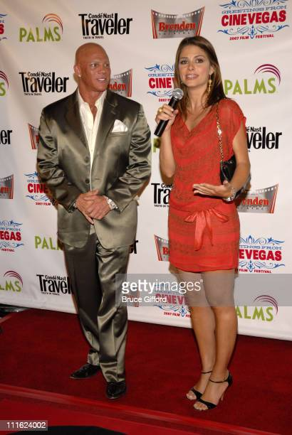 Johnny Brenden and Maria Menounos during Maria Menounos Honored With Brenden Celebrity Star and Screening of In the Land of Merry Misfits June 14...