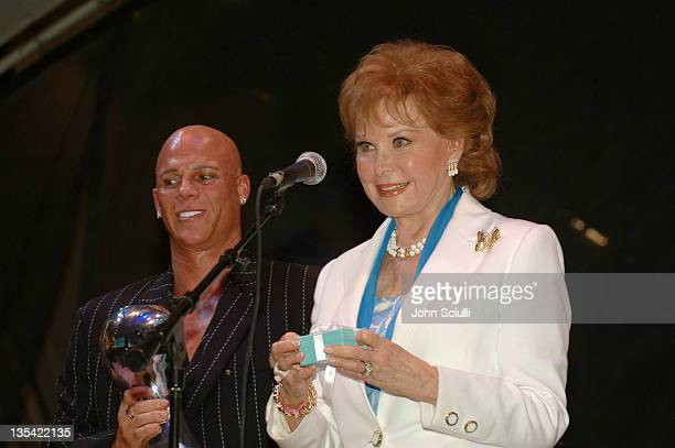Johnny Brenden and Rhonda Fleming during CineVegas Film Festival 2005 Las Vegas Showgirls Party at Fremont Street in Las Vegas Nevada United States