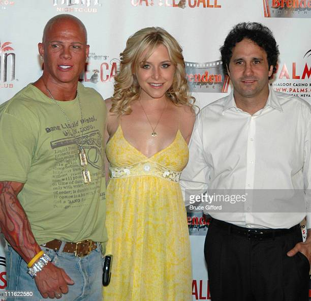 Johnny Brenden Jenny Mollen and George Maloof during Palms Casino Resort Brenden Theatres and N9NE Group Host Premiere of National Lampoon's Cattle...