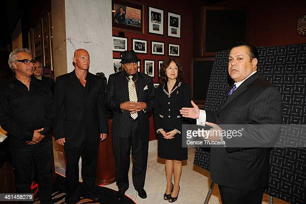 Johnny Brenden Joe Jackson and Jerry Olivarez attends the Brenden Celebrity Suites at The Palms Casino Resort on August 29 2009 in Las Vegas Nevada