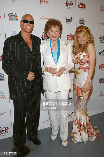 Johnny Brenden Rhonda Fleming and Diva during CineVegas Film Festival 2005 Las Vegas Showgirls Party at Fremont Street in Las Vegas Nevada United...