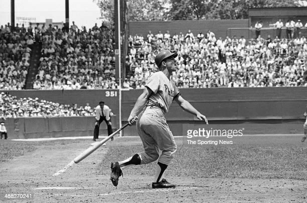 Johnny Callison of the Philadelphia Phillies bats during the 1964 season