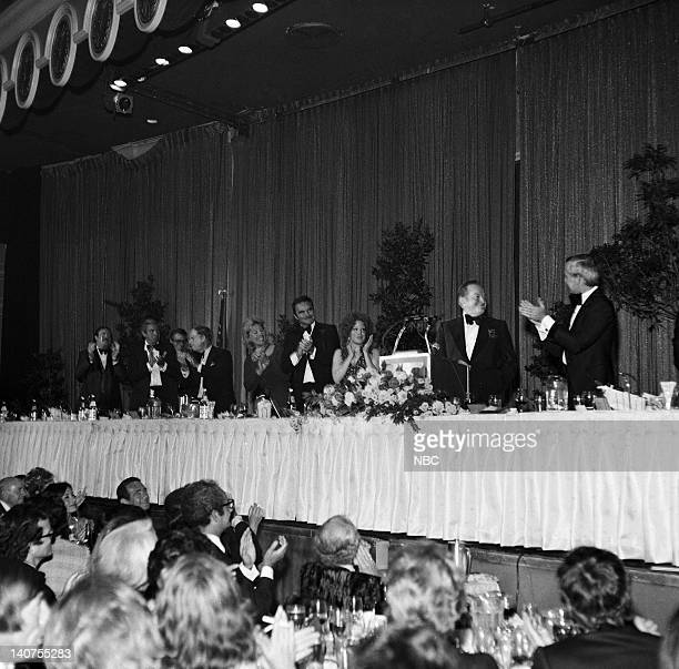 ROAST 'Johnny Carson' Pictured Pat McCormick Jan Murray Don Rickles Dinah Shore Burt Reynolds Bette Midler Bob Hope Johnny Carson during the Friar's...