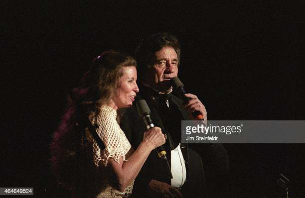 Johnny Cash and June Carter Cash perform at the Carlton Dinner Theatre in Bloomington Minnesota on September 26 1984