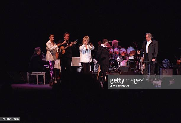 Johnny Cash and June Carter Cash perform at the Greek Theatre in Los Angeles, California on June 14, 1997.