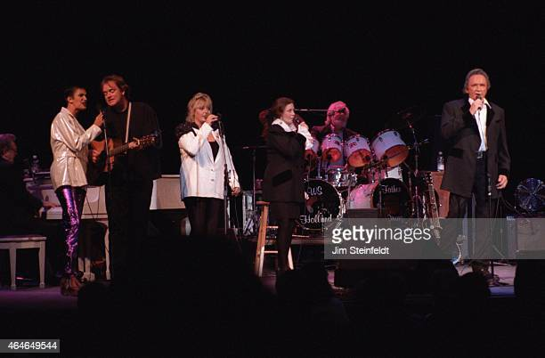 Johnny Cash and June Carter Cash perform at the Greek Theatre in Los Angeles California on June 14 1997