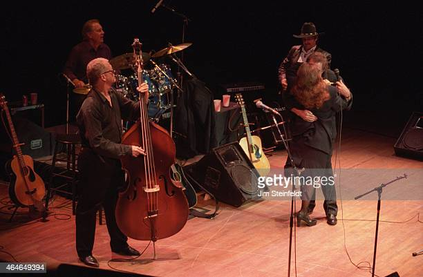 Johnny Cash and June Carter Cash perform with at the Orpheum Theatre in Minneapolis Minnesota on August 27 1994