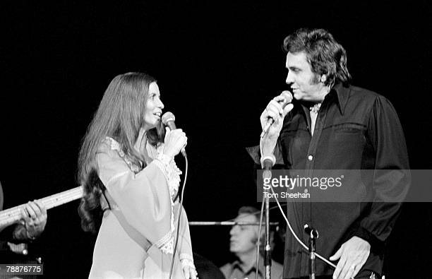 Johnny Cash And June Carter Performing At Hammersmith Odeon London