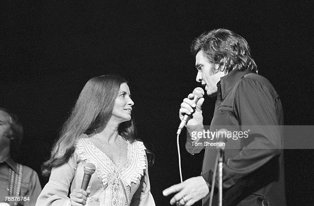 Johnny Cash And June Carter, Performing At Hammersmith Odeon, London