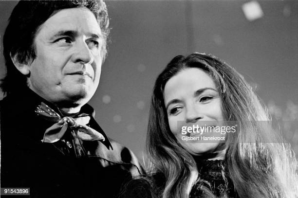 Johnny Cash and June Carter posed together in Amsterdam Holland in 1972