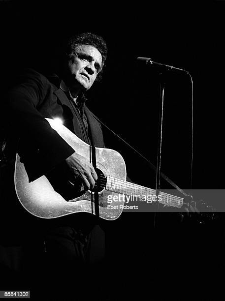 Photo of Johnny CASH Johnny Cash performing on stage at the Ritz