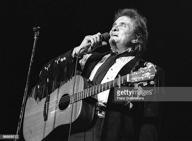 Johnny Cash performs live in Rotterdam, Netherlands on September 02 1987