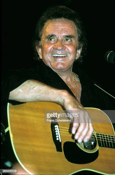 Johnny Cash performs live on stage in Rotterdam, Netherlands on June 30 1994
