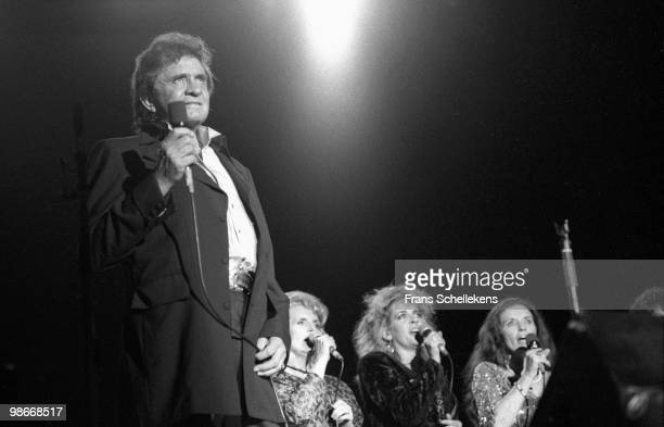 Johnny Cash performs live with The Carter family in Rotterdam, Netherlands on September 02 1987