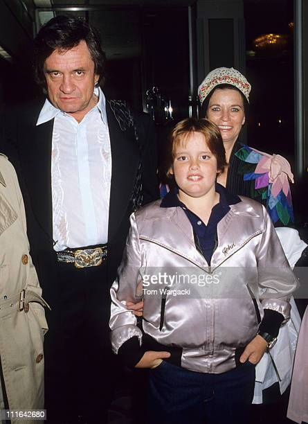 Johnny Cash son John Cash and June Carter Cash during Johnny Cash Sighting at the Grosvenor House Hotel in London Early 1980's at Grosvenor House...