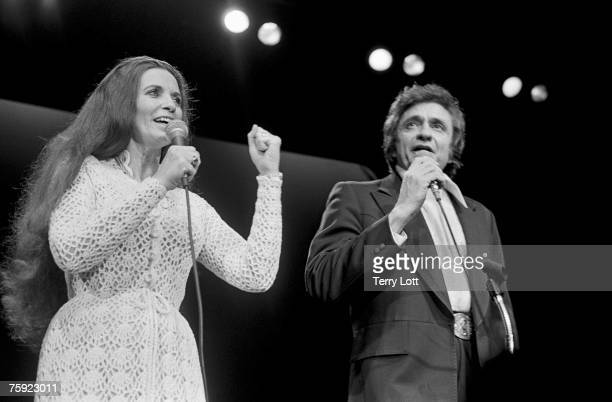Johnny Cash with wife June Carter live at Wembley Conference Centre