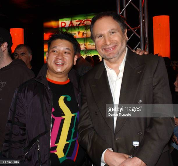 Johnny Chan and Gabe Kaplan during Razor Magazine Hosts The First Ever National HeadsUp Poker Championship PreTournament Party at Golden Nugget Hotel...