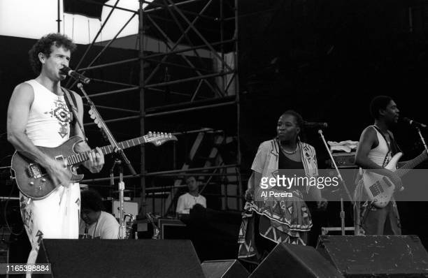 Johnny Clegg and Savuka open the show when Tracy Chapman performs at the Jones Beach Theater on June 20 in Wantagh, New York. .