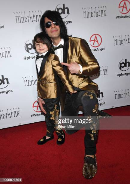 Johnny Crisstopher Sarantakos and illusionist Criss Angel attend the grand opening of Criss Angel MINDFREAK at Planet Hollywood Resort Casino on...