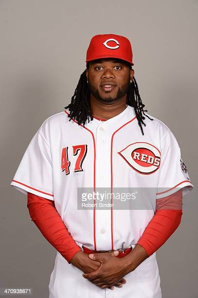 Johnny Cueto of the Cincinnati Reds poses during Photo Day on Thursday February 20 2014 at Goodyear Ballpark in Goodyear Arizona