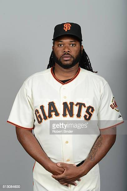 Johnny Cueto of the San Francisco Giants poses during Photo Day on Sunday February 28 2016 at Scottsdale Stadium in Scottsdale Arizona