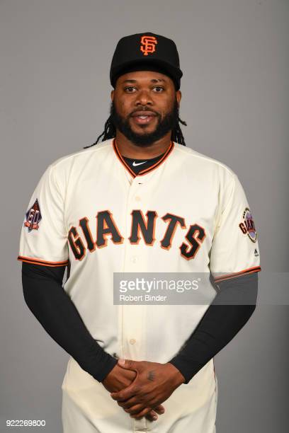 Johnny Cueto of the San Francisco Giants poses during Photo Day on Tuesday February 20 2018 at Scottsdale Stadium in Scottsdale Arizona