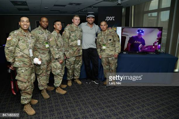 Johnny Damon and guests Compete Against American Troops in Saudi Arabia with Groundbreaking Virtual Reality Sport CCP Games' Sparc at Yankee Stadium...