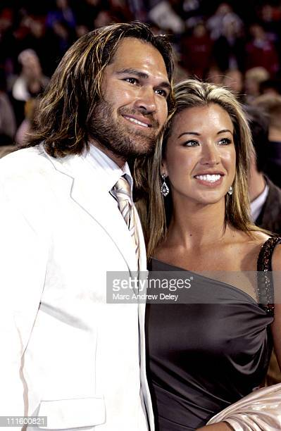 Johnny Damon and Michelle Damon during Fever Pitch Premiere at Fenway Park at Fenway Park in Boston Massachusetts United States