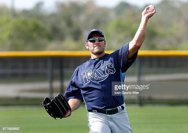Johnny Damon during the Rays spring training work out at the Charlotte Sports Park in Port Charlotte Florida
