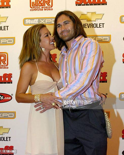 Johnny Damon of the Boston Red Sox with wife Michelle Damon