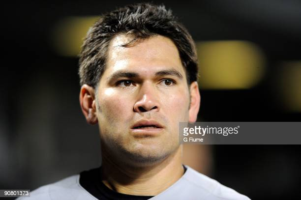 Johnny Damon of the New York Yankees watches the game against the Baltimore Orioles at Camden Yards on September 2 2009 in Baltimore Maryland
