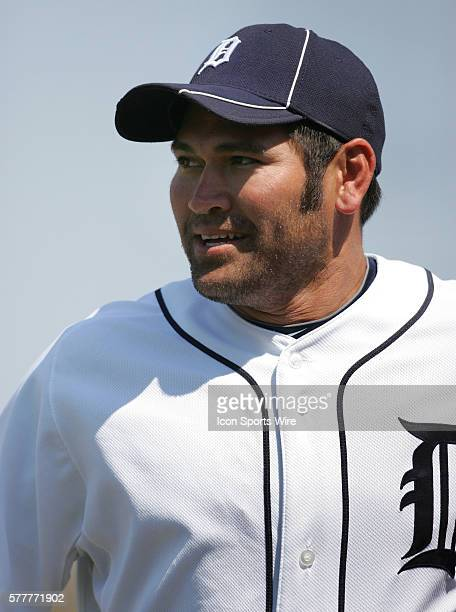Johnny Damon of the Tigers in action as the Detroit Tigers face the visiting Baltimore Orioles in Grapefruit League action during Spring Training at...