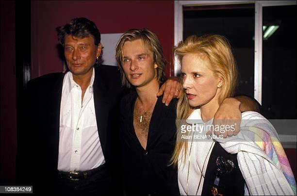 Johnny David Hallyday and Sylvie Vartan in Paris France on March 08 1991